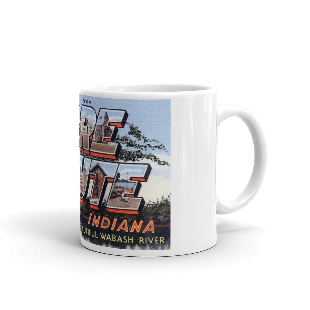 Greetings from Terre Haute Indiana Unique Coffee Mug, Coffee Cup 1