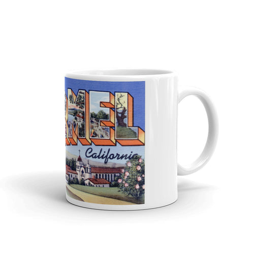 Greetings from Carmel California Unique Coffee Mug, Coffee Cup
