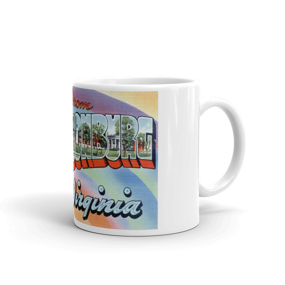 Greetings from Harrisonburg Virginia Unique Coffee Mug, Coffee Cup