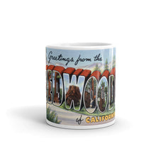 Greetings from Redwoods California Unique Coffee Mug, Coffee Cup