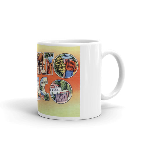 Greetings from Puerto Rico Unique Coffee Mug, Coffee Cup
