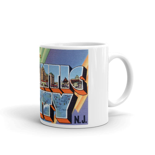 Greetings from Atlantic City New Jersey Unique Coffee Mug, Coffee Cup 1
