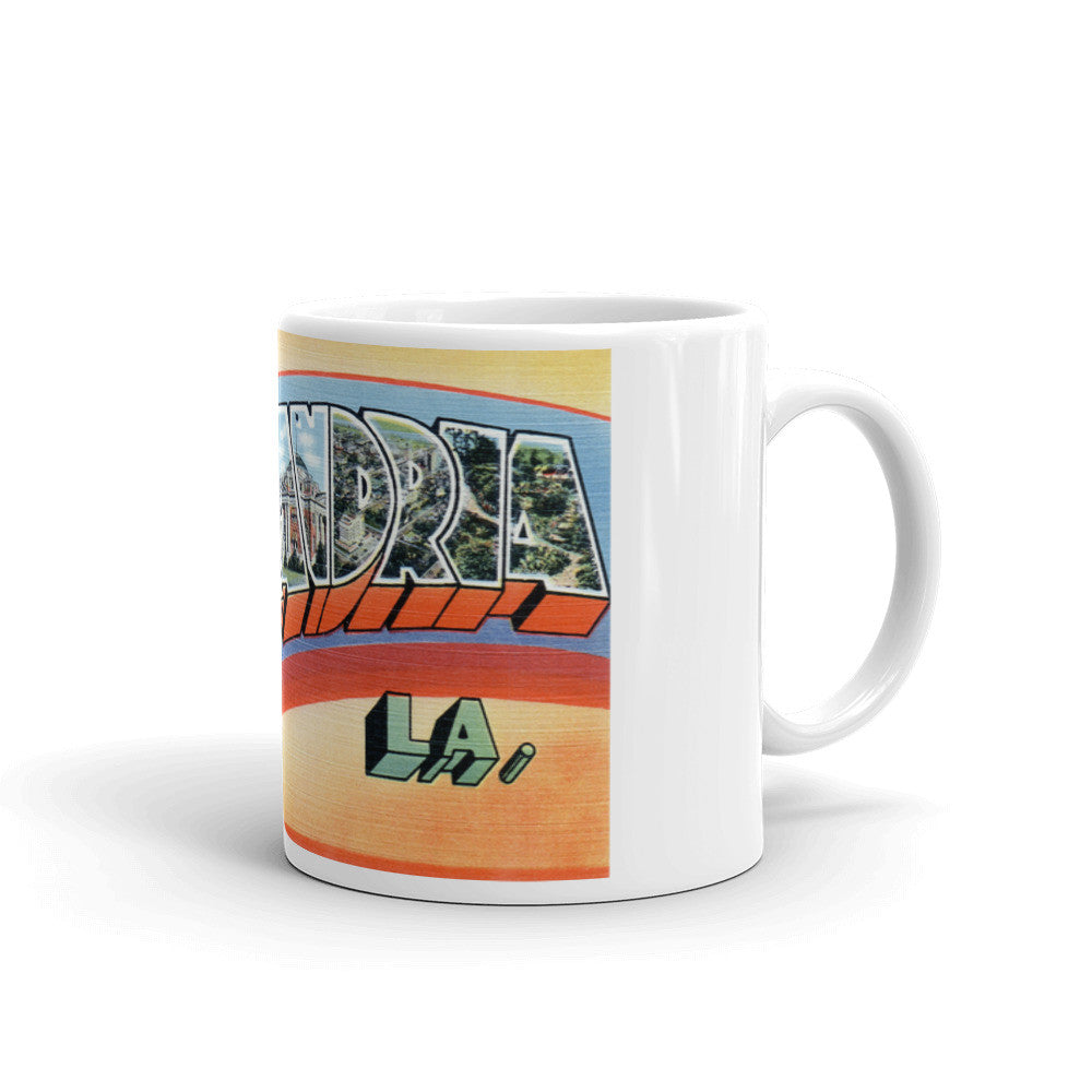 Greetings from Alexandria Louisiana Unique Coffee Mug, Coffee Cup