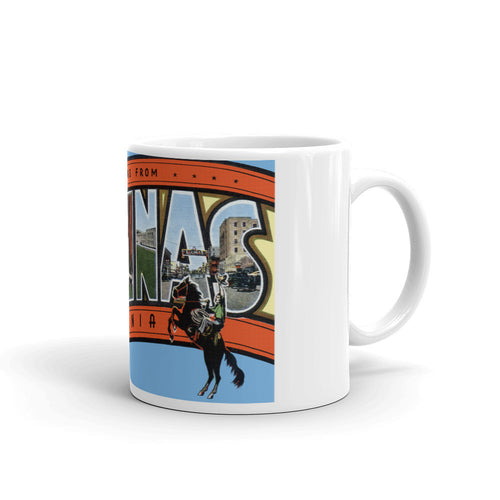 Greetings from Salinas California Unique Coffee Mug, Coffee Cup