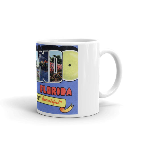 Greetings from Orlando Florida Unique Coffee Mug, Coffee Cup