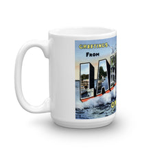 Greetings from Lakeside Ohio Unique Coffee Mug, Coffee Cup