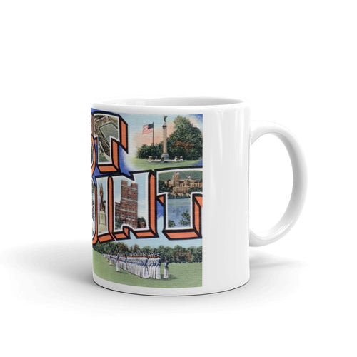 Greetings from West Point New York Unique Coffee Mug, Coffee Cup