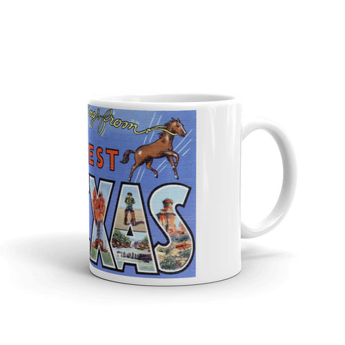 Greetings from West Texas Unique Coffee Mug, Coffee Cup