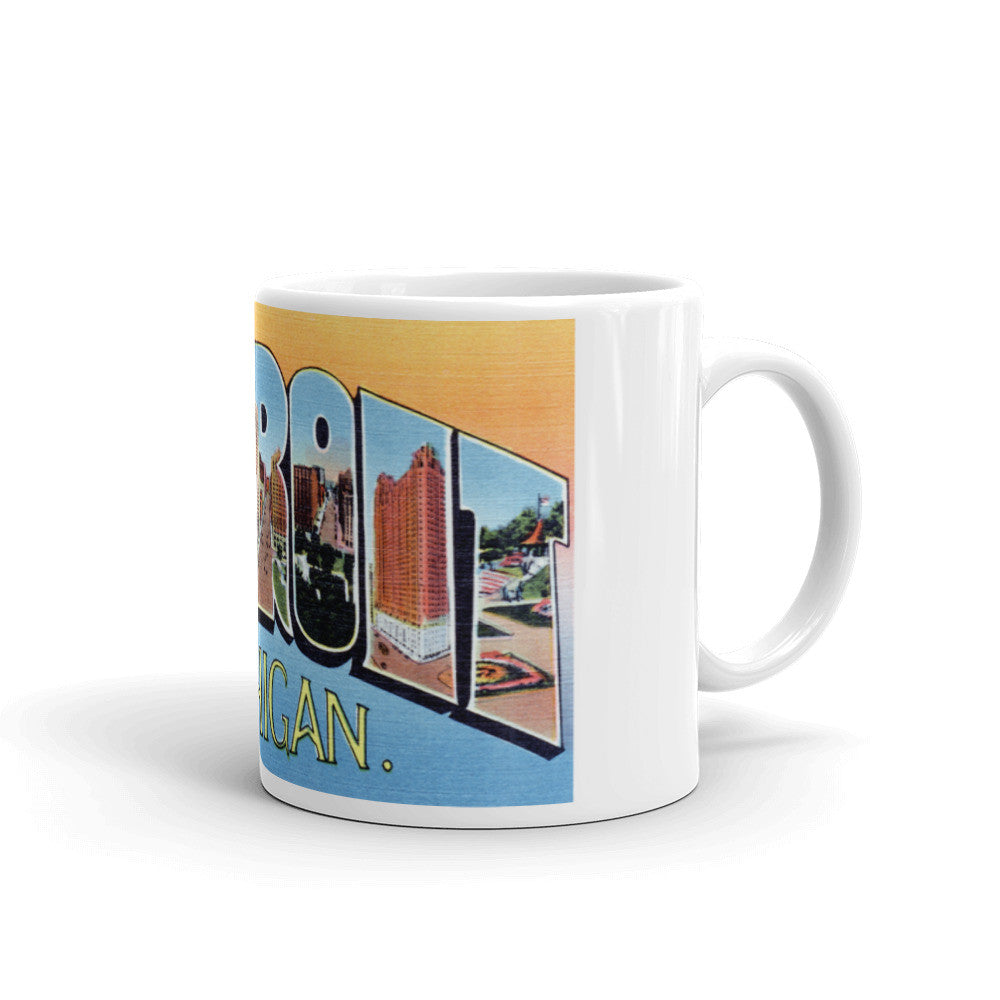 Greetings from Detroit Michigan Unique Coffee Mug, Coffee Cup 3