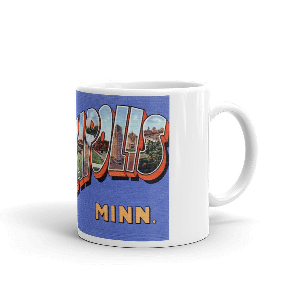 Greetings from Minneapolis Minnesota Unique Coffee Mug, Coffee Cup 1