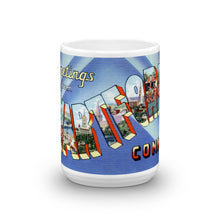 Greetings from Hartford Connecticut Unique Coffee Mug, Coffee Cup
