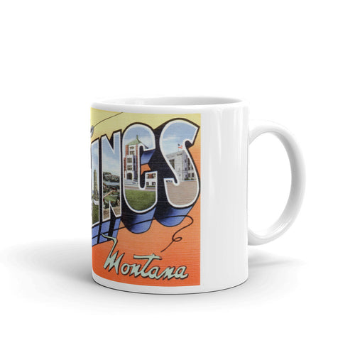 Greetings from Billings Montana Unique Coffee Mug, Coffee Cup