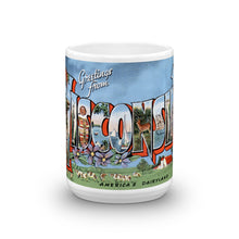 Greetings from Wisconsin Unique Coffee Mug, Coffee Cup 3