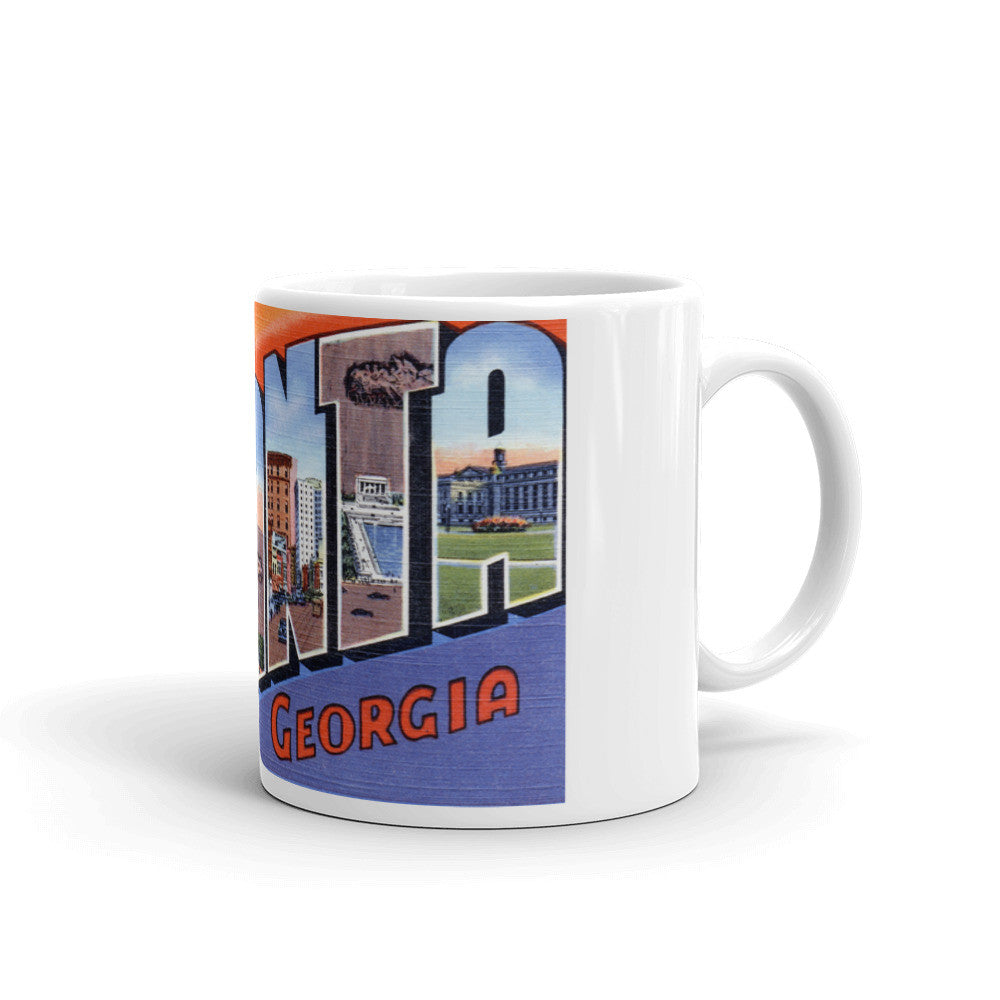 Greetings from Atlanta Georgia Unique Coffee Mug, Coffee Cup