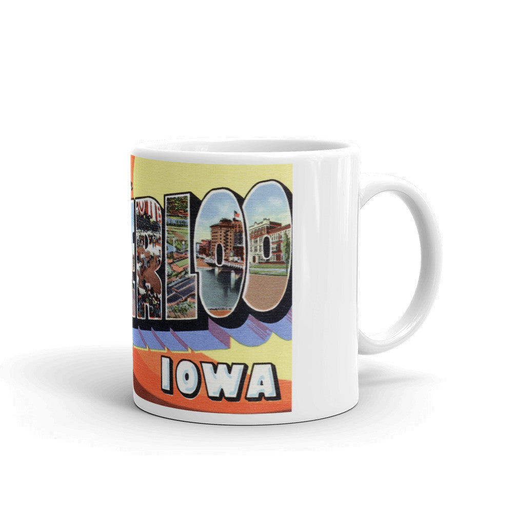 Greetings from Waterloo Iowa Unique Coffee Mug, Coffee Cup