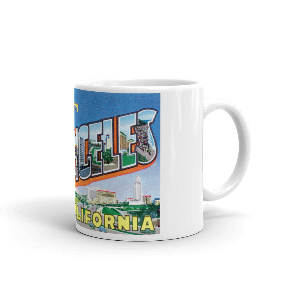 Greetings from Los Angeles California Unique Coffee Mug, Coffee Cup 4