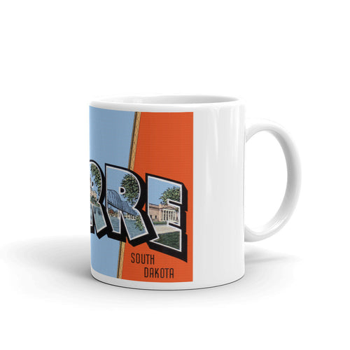 Greetings from Pierre South Dakota Unique Coffee Mug, Coffee Cup