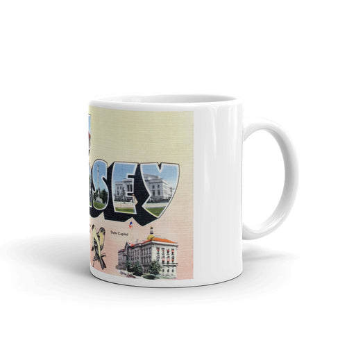 Greetings from New Jersey Unique Coffee Mug, Coffee Cup 3