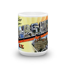 Greetings from Albany New York Unique Coffee Mug, Coffee Cup