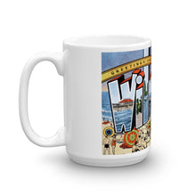 Greetings from Wilmington Delaware Unique Coffee Mug, Coffee Cup