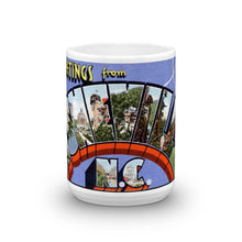 Greetings from Asheville North Carolina Unique Coffee Mug, Coffee Cup