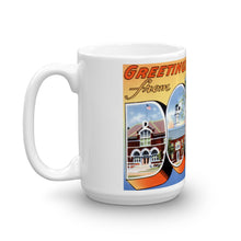 Greetings from Dover Delaware Unique Coffee Mug, Coffee Cup