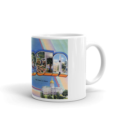 Greetings from Georgia Unique Coffee Mug, Coffee Cup 1