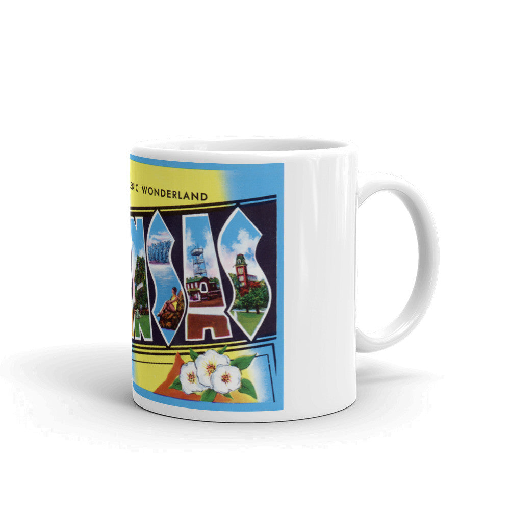 Greetings from Arkansas Unique Coffee Mug, Coffee Cup 3