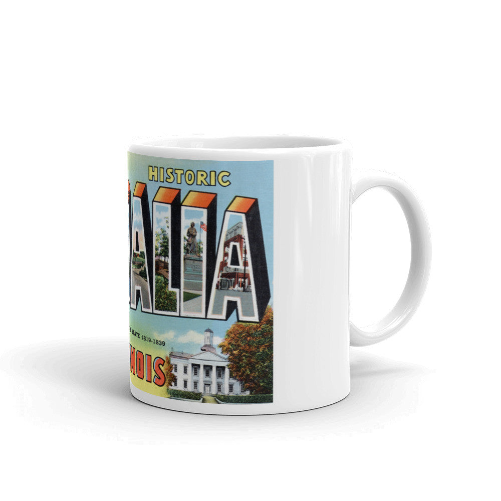 Greetings from Vandalia Illinois Unique Coffee Mug, Coffee Cup