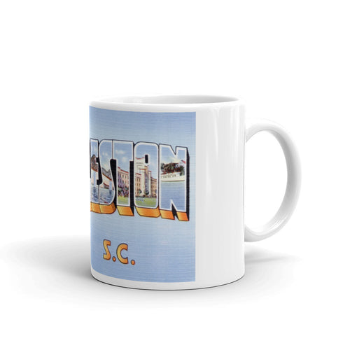 Greetings from Charleston South Carolina Unique Coffee Mug, Coffee Cup