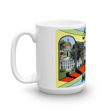 Greetings from Augusta Maine Unique Coffee Mug, Coffee Cup 1