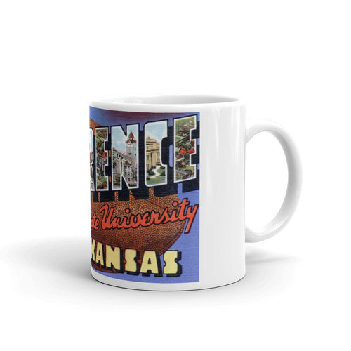 Greetings from Lawrence Kansas Unique Coffee Mug, Coffee Cup