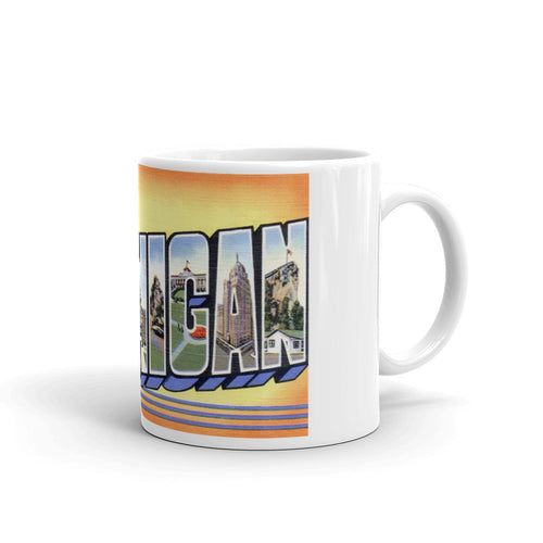 Greetings from Michigan Unique Coffee Mug, Coffee Cup 2