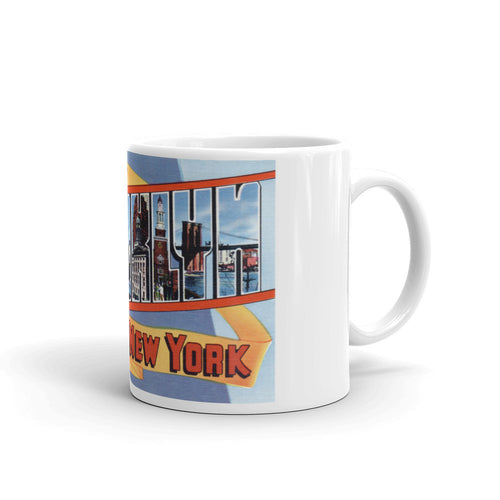 Greetings from Brooklyn New York Unique Coffee Mug, Coffee Cup 1