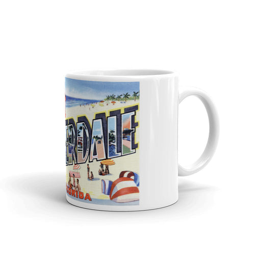 Greetings from Fort Lauderdale Florida Unique Coffee Mug, Coffee Cup 2