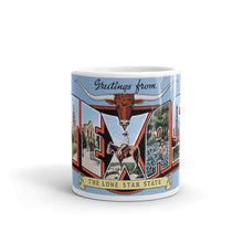 Greetings from Texas Unique Coffee Mug, Coffee Cup 7