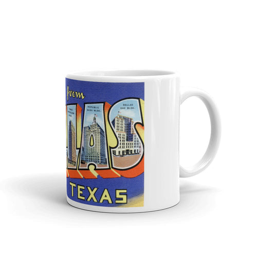 Greetings from Dallas Texas Unique Coffee Mug, Coffee Cup 2