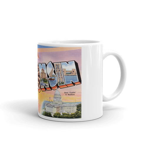 Greetings from Wisconsin Unique Coffee Mug, Coffee Cup 1
