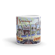 Greetings from Camden New Jersey Unique Coffee Mug, Coffee Cup