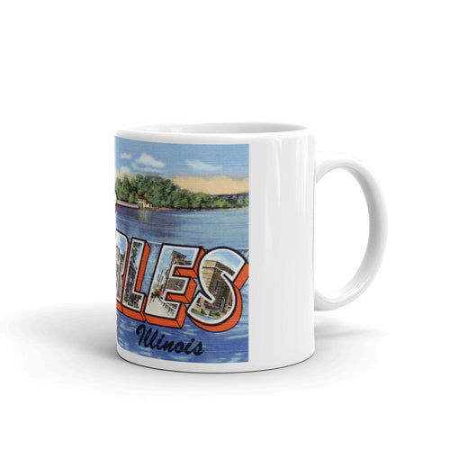 Greetings from St Charles Illinois Unique Coffee Mug, Coffee Cup
