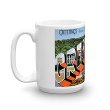 Greetings from Greenville North Carolina Unique Coffee Mug, Coffee Cup
