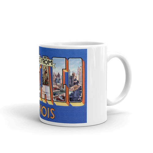 Greetings from Chicago Illinois Unique Coffee Mug, Coffee Cup 4