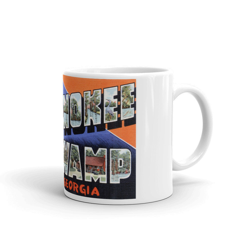 Greetings from Okefenokee Swamp Georgia Unique Coffee Mug, Coffee Cup