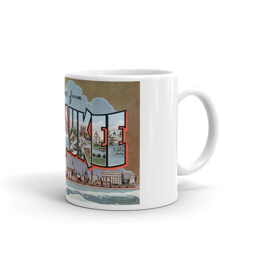 Greetings from Milwaukee Wisconsin Unique Coffee Mug, Coffee Cup 1