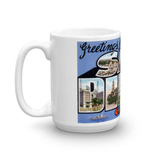 Greetings from San Diego California Unique Coffee Mug, Coffee Cup 2
