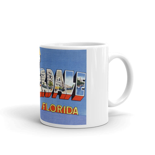 Greetings from Fort Lauderdale Florida Unique Coffee Mug, Coffee Cup 1