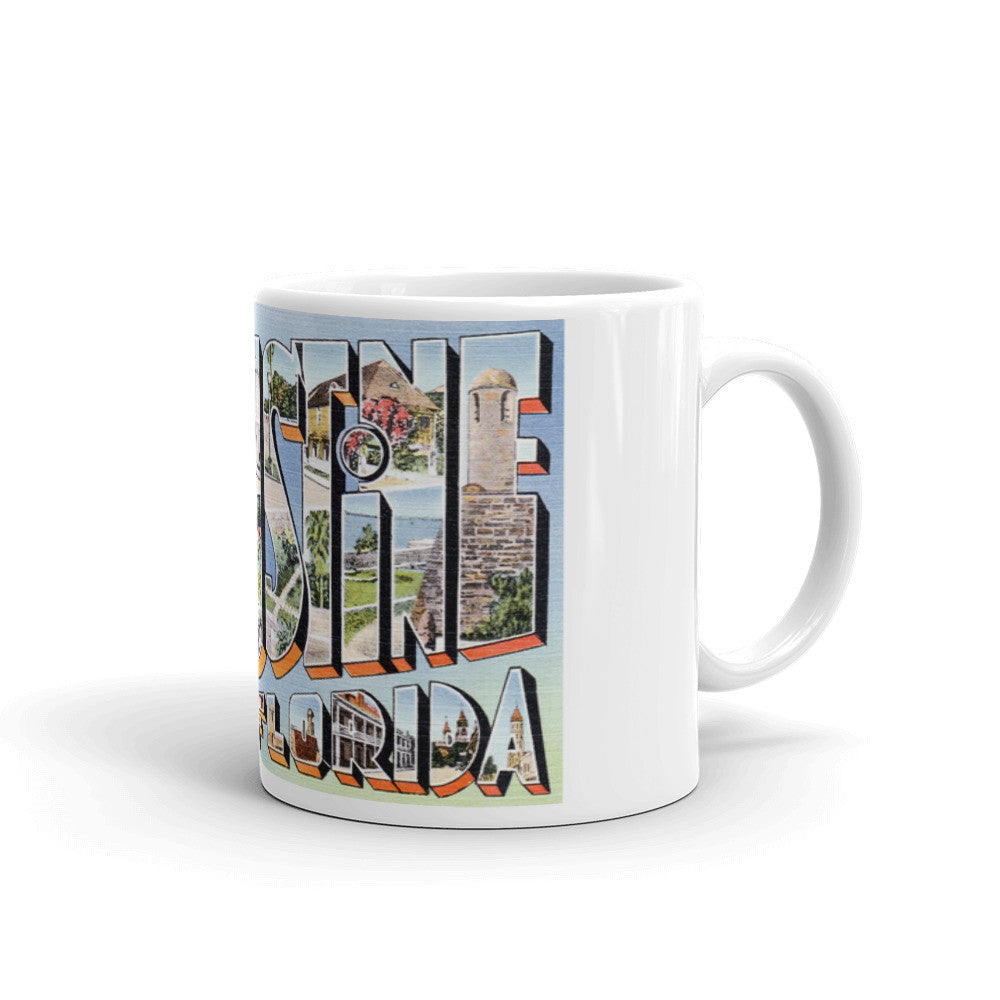 Greetings from St Augustine Florida Unique Coffee Mug, Coffee Cup 1