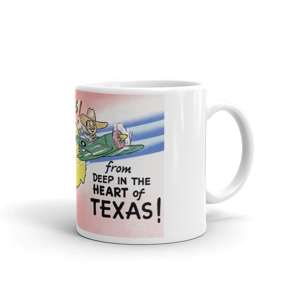 Greetings from Deep In The Heart Of Texas Unique Coffee Mug, Coffee Cup