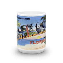 Greetings from Palm Beaches Florida Unique Coffee Mug, Coffee Cup