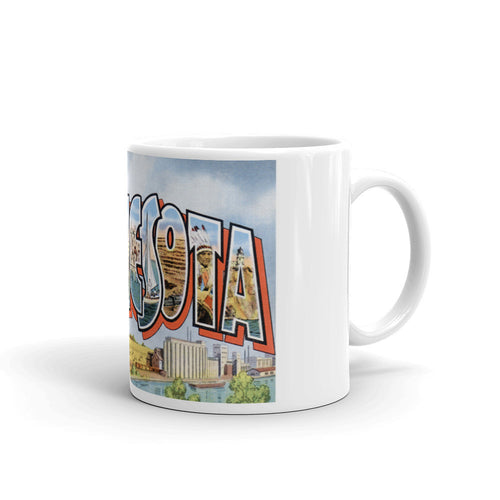 Greetings from Minnesota Unique Coffee Mug, Coffee Cup 3